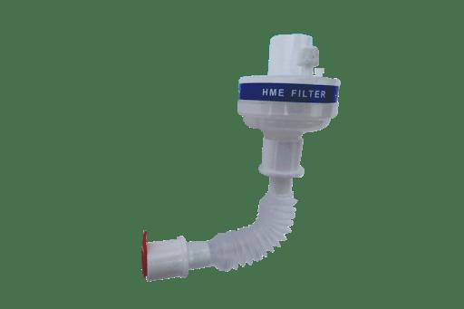 Filtro para Ventilador Pulmonar HME Viral com Tubo Traqueia